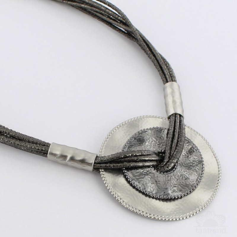 Collar Multicordones Plateado Tantrend